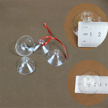 100pc 4cm Plastic Rubber Suction Cup Wedding Car DIY Bandwagon Balloon Decoration Transparent Glass PVC Sucker Cups(China)
