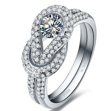 Eternal Memory Style Au750 White Gold Ring 0.45Ct Synthetic Diamonds Women Ring Fine Gold Customize Jewelry For Wife