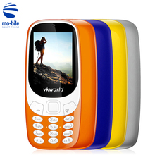 Original Vkworld Z3310 2.4 inch Quad Band Mobile Phone Loud Speaker FM Radio LED Light 2.0MP Camera Dual SIM Smart Cellphone