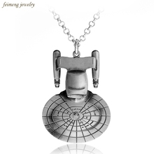 Movie Jewelry Bag Star Trek Enterprise Necklace New Fashion Star Wars Pendant Necklace Free Shipping(China)