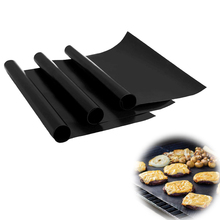 Reusable Non-stick Barbecue Grill Mat BBQ Easy Clean Grilling Fried Sheet Plate Baking Liner Outdoor Picnic Cooking Barbecue Too