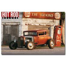 NICOLESHENTING Hot Rod Muscle Car Art Silk Fabric Poster Print Classic Car Pictures For Living Room Decor 12x18 24x36inches 003