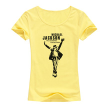2017 Fashion Women T-shirt Michael Jackson Design Short Sleeve Tops Rock kawaii T Shirt Mujer Hipster Tshirts A119(China)