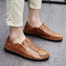 Buy Luxury Brand Handmade Men's Boat Shoes Genuine Leather Loafers Fashion Designer Men Flats Slip Driving Shoes Breathable 8 for $35.62 in AliExpress store