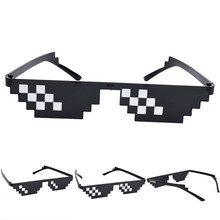 Gag Sunglasses Black 3 or 8 Bits Pixel Be Yourself Glasses Men Women Polygonal 2 Dimensional Animation Eyewear Accessories(China)
