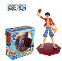 Japanese Anime One Piece Luffy The New World PVC Action Figure Toys Christmas Gifts Box Packaged 20cm Free Shipping(China)