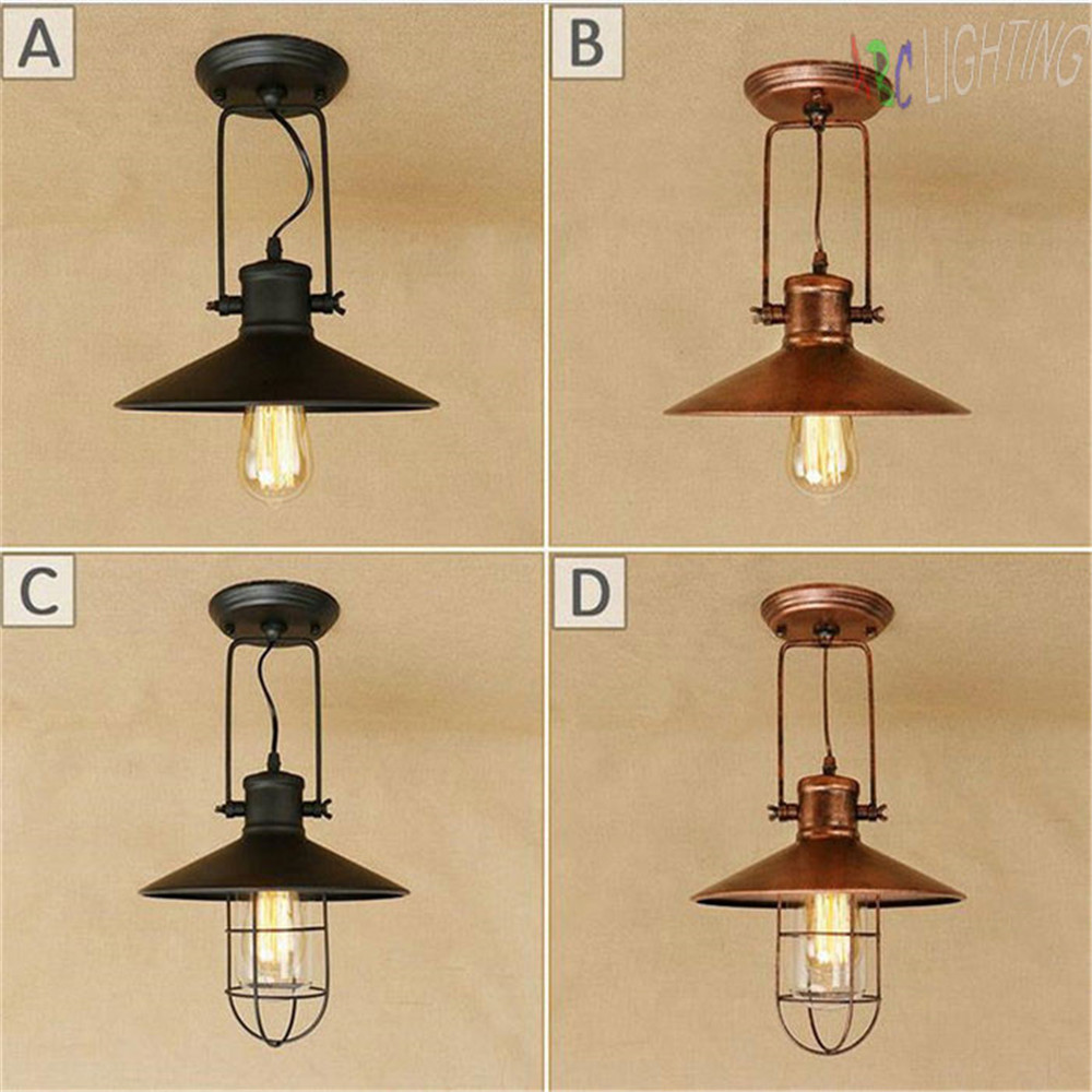 Loft Antique Ceiling Lights Vintage Industrial Lamps Home Decoration Lighting for Dinning Room/Restaurant store las luces del te<br>