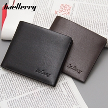 Baellerry Fine Men's Wallet Purse Money Short Men Wallets Men's Wallet Thin Leather Simple Fashion Wholesale Price Card Holder(China)
