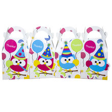 Owl Gift Box Candy Box Gift Box Favor Box 8PCS/lot Birthday Party Decorations Kids Event & Party Supplies