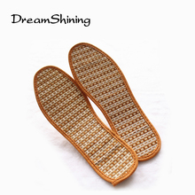DreamShining Men And Women Hand-Woven Bamboo Charcoal Linen Insoles Sports Breathable Anti-Bacterial Insoles Comfortable Insoles