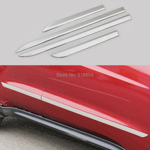ACCESSORIES FIT FOR HONDA 2014 2015 2016 VEZEL STAINIESS STELL DOOR SIDE LINING MOLDING BODY TRIM COVER PROTECTOR MOLDING