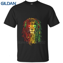 buy RASTA LION - rastafari jamaica judah gan Retro Hip-Hop white tee shirt Brand-Clothing 100% cotton(China)