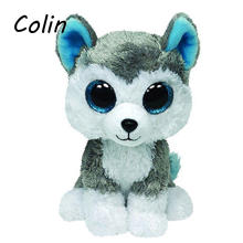 Elsadou Ty Beanie Boos Original Big Eyes Plush Toy Doll Child Birthday Husky  Baby 10-15cm WJ159