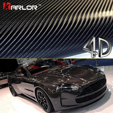 200cm*40cm Car Styling 4D Carbon Fiber Fibre Vinyl Film Motorcycle Car Accessories 3M Car Stickers And Decals Waterproof Wrap(China)