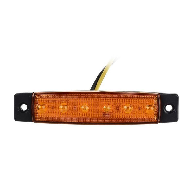 12V 6 LED Trailer Trunk Tail Light Replacement Led Trailer Taillight/Turn  Signal/Brake/Marker/Tail LED Light (Yellow)
