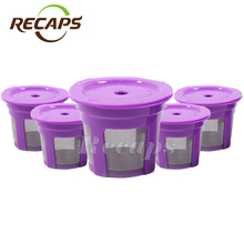 5pcs/pack Keurig reusable filter Keurig Reusble coffee Capsule K-cup Filter for 2.0 & 1.0 Brewers Refillable k cup for Keurig(China)