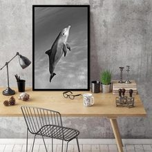 Nordic Animal dolphi Abstract Freedom Swim Wall Pictures Art Decoration Pictures Scandinavian Canvas Painting Prints No Frame