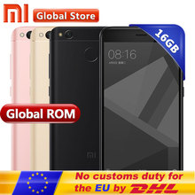 "Original Xiaomi Redmi 4X 2GB 16GB Mobile Phone Redmi 4 X Global Rom Snapdragon 435 Octa Core 5.0"" HD Fingerprint 4100mAh(China)"