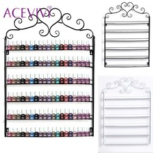 ACEVIVI Nail Polish Display Retro Heart Metal Frame Stand Cosmetic Nail Shop Exhibition Shelf Makeup Organizer Storage Wall Rack(China)