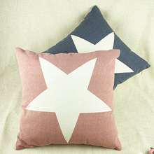 Cheap color five-pointed star cotton pillow office sofa cushion cotton pillow / lumbar pillow can support mixed batch coreless