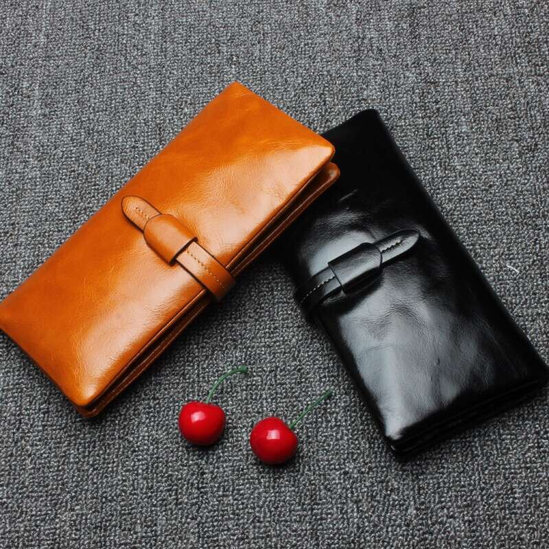 Fashion Women Wallet Long Purse Genuine Leather Clutch Female Wallets Coin Pocket Card Holder Zipper Feminina Carteira Handbag<br>