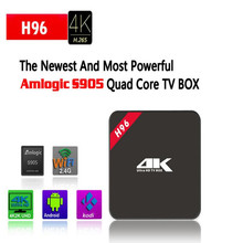 Android TV Box H96 Amlogic S905 Quad Core 16G Dual WiFi 4K UHD 3D Media Player 1000M LAN IPTV Box HDMI Android 5.1 TV Box