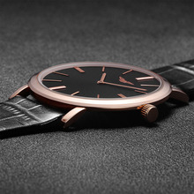 Super Slim Mens Watch Fashion Casual GUANQIN Brand Leather Strap Waterproof Quartz-watch Men's Stylish Style Relojes Hombre 2016