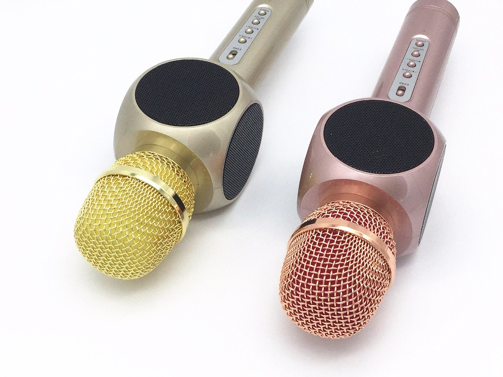 New Fashion E103 Bluetooth Wireless Handheld Microphone Speaker Karaoke KTV Portable Microphone Musice Player Free shipping