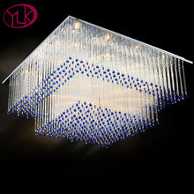 Youlaike Modern LED Ceiling Light For Living Room Square Bedroom Crystal Lamp Surface Mounted Home Lighting Luminaria De Teto(China)
