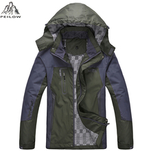 PEILOW women Men's Waterproof Windpoof Jackets Men Spring fall Jacket Coats Male Tourism Mountain Brand Clothing Plus Size L-5XL