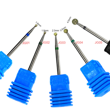 1PCS Round Diamond 5 Type Nail Drill Bits Milling Cutter Manicure Pedicure for Electric Nail Clean Salon Accessory CHJG01-05(China)