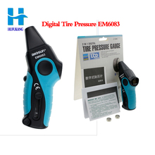 allsun EM6083 Digital Tire Pressure Gauge Practical Tire Veins Depth Tester Automotive 2 in 1 Tester Backlight all-sun EM6083(China)