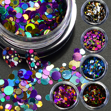 1g Deep Colors 1/2/3mm Mixed Mini Round Thin Nail Art Glitter Decoration Sparkly Paillette Nail Tips Designs DIY Tools BEP01-12(China)