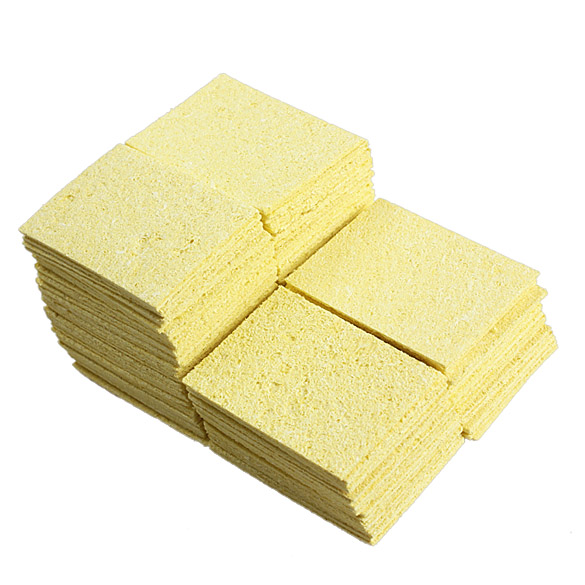 100Pcs Super Warming Heat-resistant Compressed Sponge for Solder Cleaning J2Y(China (Mainland))