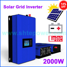 2000w solar inverter with battery discharge function grid tie system MPPT DC 45-90v input to ac 110v 120v 220v 230v(China)