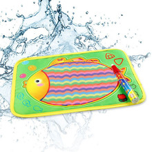 Cartoon Fish Drawing out the picture in your mind  Water Drawing Toys Aqua doodle Mat &1 Magic Pen Water Drawing board Mat
