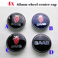 4pcs 62mm label Car Wheel Emblem Cap Auto Wheel Hub Logo Cover Carbon Fiber