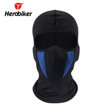 HEROBIKER Motorcycle Full Face Mask Outdoor Motorcycle Helmet Hood Black Blue Gray Red Face Mask Motorcycle Moto Mask 4 Colors