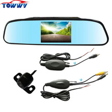 OEPZ603-W Car Wireless Rearview System With 4.3 inch TFT-LCD Screen(China)