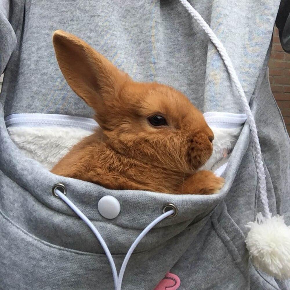 17 New Cartoon Hooded Hoodies Lover Cats Kangaroo Dog Hoodie Long Sleeve Sweatshirt Front Pocket Casual Animal Ear Hoodie 47