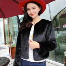 MSAISS Spring New Lady Sundae Luxury Mink Coat High Quality Short Leather Fur Coat Fur Jacket Ms Faux Fur Coat S-XL