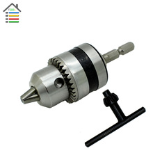 "AUTOTOOLHOME Electric Rotary Hammer Drill Chucks power Tool accessories Cap 1.5-10mm Mount 3/8""-24UNF with 1/4"" Hex Shank"