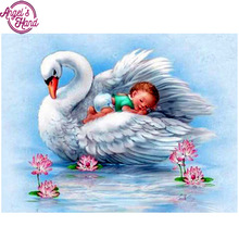 Buy Full,Diamond Embroidery,5D,diy,Diamond Painting swan,baby,lake,3d picture,Stitch Cross,3D,Diamond Mosaic,Needlework,Crafts,gift for $5.29 in AliExpress store