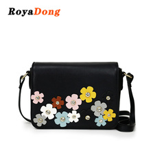 RoyaDong Brand 2018 Fashion Women Bags Flower Candy Color Luxury Shoulder Bag Female Small Crossbody Messenger Bags Flap Design(China)