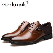 Merkmak Luxury Brand Men Shoes England Trend Leisure Leather Shoes Breathable For Male Footwear Loafers Men Flats Big Size 37-48(China)