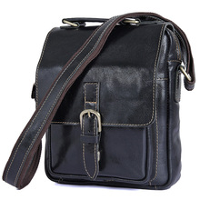 Genuine Leather Shoulder Bags Ipad Bag Men's Crossbody Men Messenger Bag 2 Colors Cow Leather Men Bag #J1016(China)