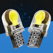 2PCS T10 W5W COB LED car interior light Silica Gel marker lamp 12V 194 192 bulb wedge parking dome light car styling White 12V