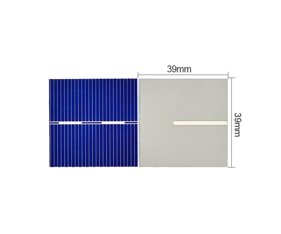 Aoshike 100pcs Polycrystalline Solar Panel 39*39mm 0.5V 0.25W Solar Battery Silicon DIY Solar Charger Battery Painel Solar 3