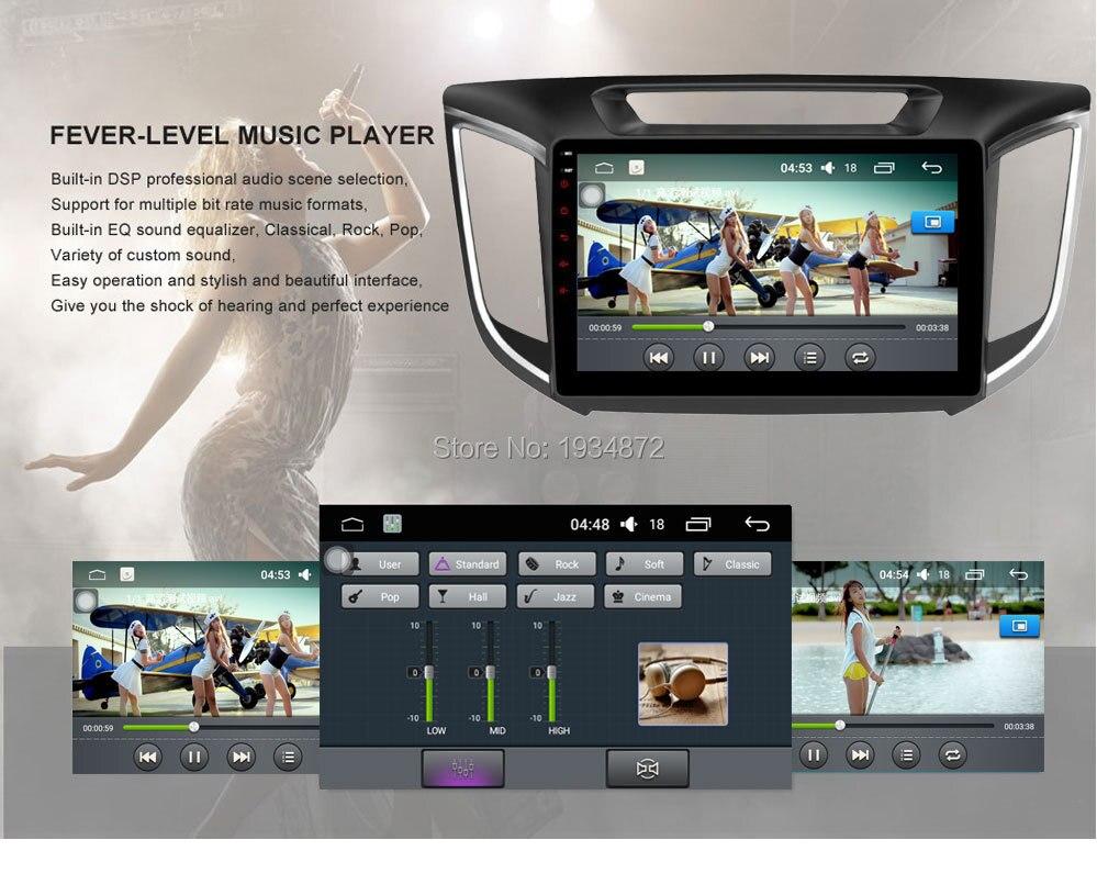 Android 6.0 CAR Audio DVD player FOR HYUNDAI ix25CRETA gps Multimedia head device unit receiver BT WIFI bluetooth