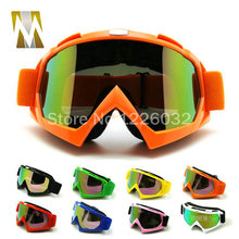 Orange Adult Motorcycle goggles Motocross googles Bike Cross Country Flexible Glasses Color Lens eyewear helmet googles